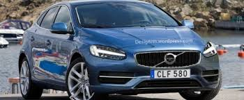 2016 volvo v40 rendering shows thor hammer led headlights