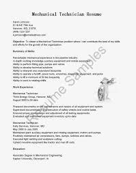 Hvac Technician Resume Examples 28 Resume Sample Mechanical Technician Mechanical Engineer