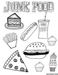 Heart Healthy Foods Coloring Pages Food And Drink Colouring Apple Food Color Pages