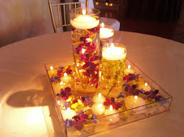 Candle Light Decoration At Home by Decoration Beautiful Round Table Decor With Candle Placed In Glass