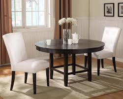 Circle Dining Room Table by Modus Bossa 3 Piece Round Dining Room Set In Dark Chocolate