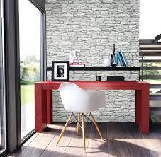 Schlafzimmer Mit Holz Tapete Steintapete In Weiß Schöne Edle Tapete Im Steinmauer Design
