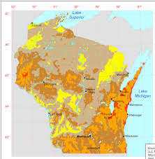 Wisconsin Map Usa Maps Of Nonhurricane Nontornadic Extreme Wind Speeds For The Us