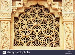 stone carved grill jali window of national art gallery government