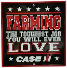 amazon com s u0026d case ih toughest job metal sign 12 by 12