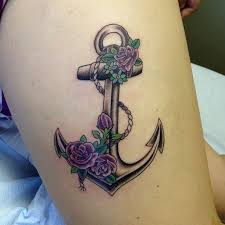 roses on an anchor google search christian tattoo ideas