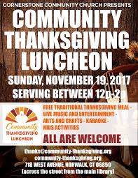 community thanksgiving luncheon an inclusive meal prepared and