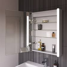 450mmx600mm bloom illuminated led mirror cabinet with shaver