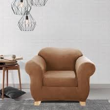 sure fit stretch pinstripe two piece t cushion chair slipcover