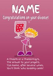 emotional rescue divorce card congratulations funky pigeon