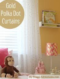 Polka Dot Curtains Nursery Easy Diy Gold Polka Dot Curtains Room Polka Dot Curtains And