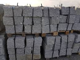 polen granit mauersteine grau 20x20x40 cm spaltrauh zürich