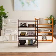 3 tier stackable folding bookcase walmart com