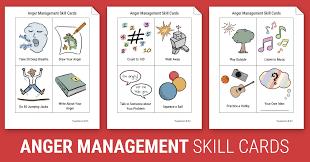 Depression Worksheets Anger Management Skill Cards Worksheet Therapist Aid