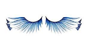 amazon com zinkcolor royal blue feather tip false eyelashes f878