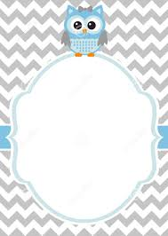 free printable customized owl baby shower invitation template
