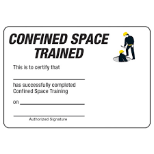 certification photo wallet cards confined space trained seton
