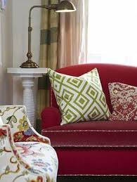 Living Room With Red Sofa by Casual And Colorful Living Room Design Ideas Living Rooms