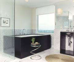 Rolling Bathroom Cart New York Rolling Bath Cart Living Room Contemporary With Custom