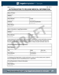 medical records release form create a request for medical