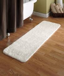 Plush Runner Rugs 54 Ivory Microfiber Plush Bath Runner Rug Ultra Absorbent Soft On