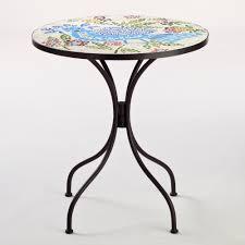 dining room rio bird cadiz mosaic bistro table with black legs