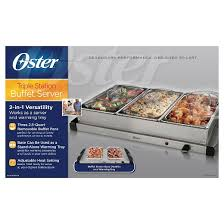 oster triple warming tray buffet server ckstbstw00 target