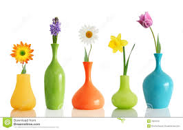Designer Vases Spring Flowers In Vases Royalty Free Stock Image Image 12522956