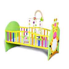 china colorful baby crib made of solid wood or mdf measures