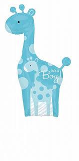 baby shower giraffe sweet safari it s a boy giraffe baby shower 42 mylar
