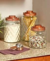 kamenstein copper lid glass canister set shopko food library