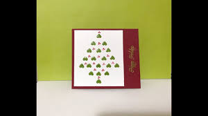 easy christmas card made using small stamps holiday craft 3