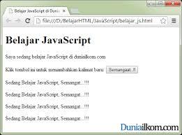 membuat web sederhana dengan javascript tutorial belajar javascript cara menjalankan kode program