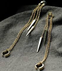 cool dangle earrings fashion cool spike c shape clip dangle earrings