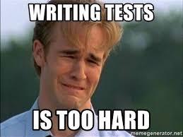 Meme Writing Generator - writing tests is too hard dawson crying meme generator inside