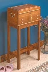 Free Wood Sewing Box Plans by Free Scroll Saw Fretwork Patterns Clocks Shelves Cabinets