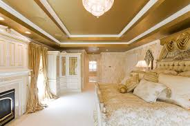 Sheffield Bedroom Furniture Gold Bedroom With Custom Window Treatments And Bedding