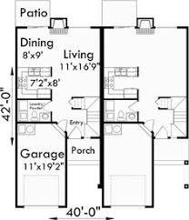 Duplex Plans With Garage Duplex Design 027m 0009 2nd Floor Plan Square Feet 2400 Total