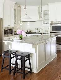White Kitchen Black Island Beautiful White Kitchen Design With White Shaker Kitchen Cabinets
