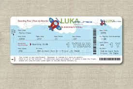 boarding pass birthday invitation template free images
