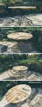 Patio Table Made From Pallets by Round Top Table Made Of Pallets Diy 101 Pallet Ideas Pallet
