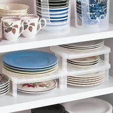 Kitchen Plate Organizer Reviews Online Shopping Kitchen Plate - Kitchen cabinet plate organizers