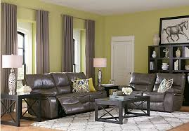 Living Room Reclining Sofas Cindy Crawford Home Gianna Gray Leather Reclining Sofa Reclining