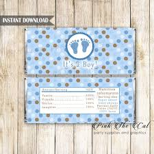 candy bar wrapper printable personalized baby boy shower candy