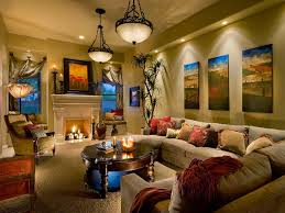 Contemporary Home Interior Interior Classical Pendnat Lighting Living Room Over Wooden