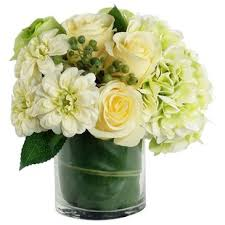 white floral arrangements mixed white flower arrangements you ll wayfair