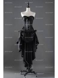 Fashion Black Gothic Corset High Low Burlesque Prom Party Dress