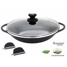 batterie de cuisine en schumann wok revetement schumann 32 cm achat vente wok wok