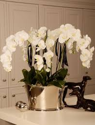orchid arrangements tip trik white orchid faux flower arrangements for