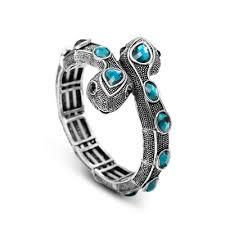 crystal snake bracelet images Silver snake bracelet double headed crystal snake vintage jpg